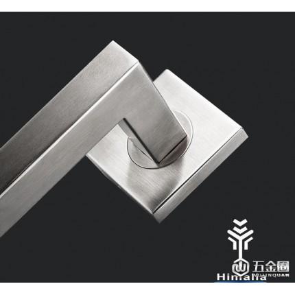 Himalia 304不锈钢方形把手门锁房门锁分体门锁室内