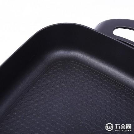 直销时尚厨房用具家用多功能电热锅环保四方锅不粘炒菜锅烤锅