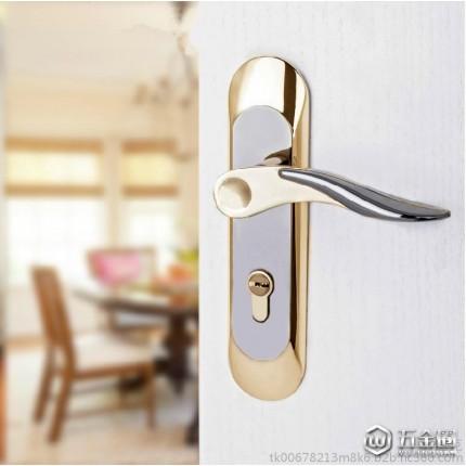 钛黑金欧式执手锁 卧室门锁 室内门锁五金锁具机械门锁AL32-F52