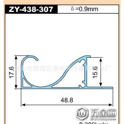 鹏翼家具拉手zy-438-307 抽屉拉手 橱柜拉手 木板拉手等铝合金型材