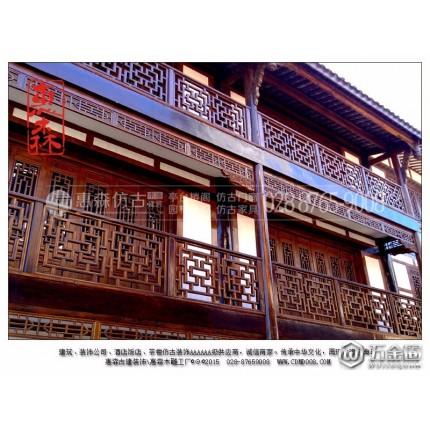 惠森古建 中式门窗安装 四川古建筑仿古雕刻门窗厂家