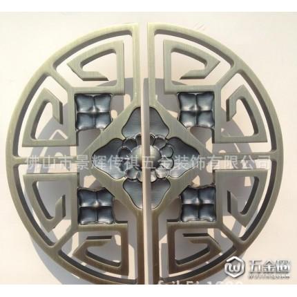 直销大门拉手 木门玻璃门中式半圆形雕刻大门把手 镂空大拉手