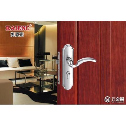 供应凯恩斯锌合金房门锁厂价批发零售生产现代简约室内门锁浴室门锁