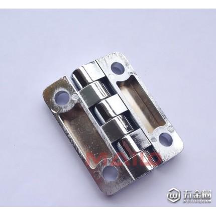 东莞机箱机柜铰链合页 ML2-001-1 锌合金亮铬四孔铰链