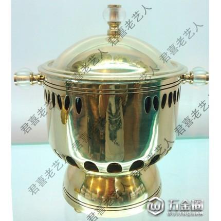 铜火锅新品热卖炒锅 厨房用具 14cm怡乡春竹式铜直加厚小火