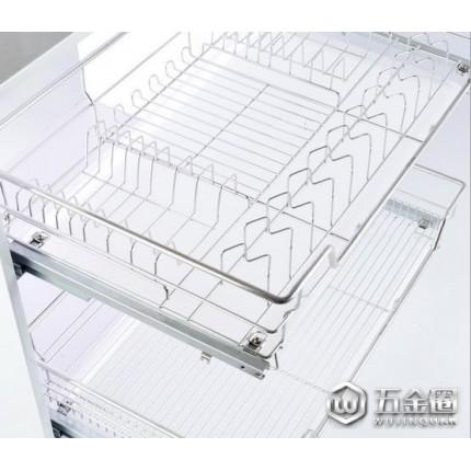 悍猫(Hcat)消毒柜层架 厨房厨柜层架  不锈钢橱柜滑轨可调德式抽屉碗碟架 不锈钢水碗篮架