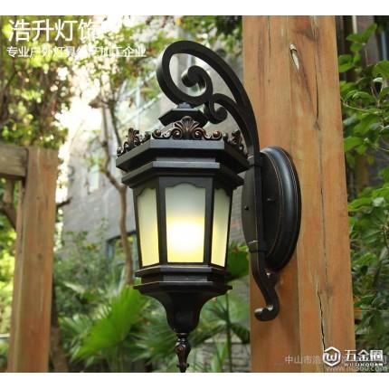 高品质欧式户外壁灯翻砂防雨防水庭院门口灯E27铝质室外灯外墙灯