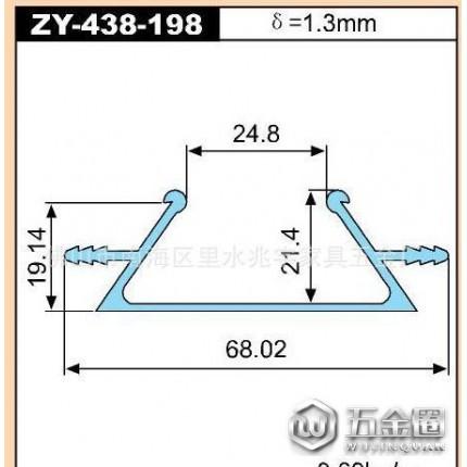 鹏翼双头家具拉手ZY-438-198 抽屉拉手橱柜拉手 木板拉手等铝合金型材