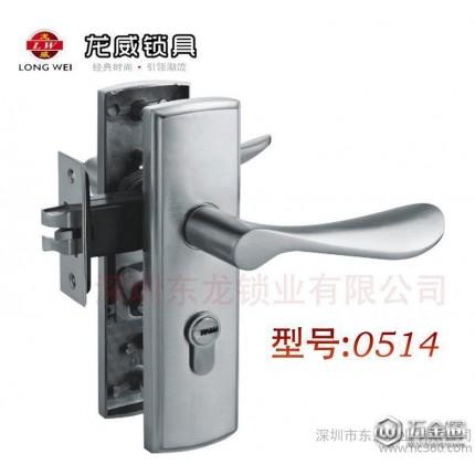 0115铝合金室内单舌门锁 房门锁低价