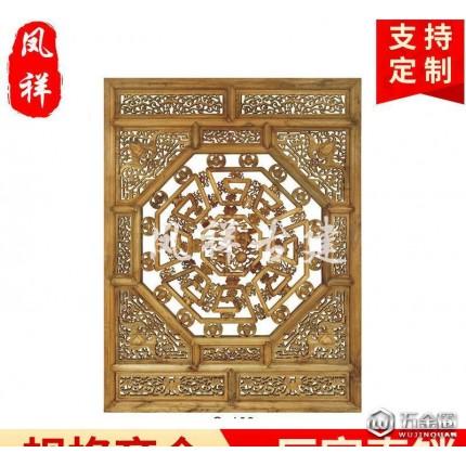 河北邯郸实木花格门窗定做 仿古木雕风格门窗 装饰仿古雕花门窗