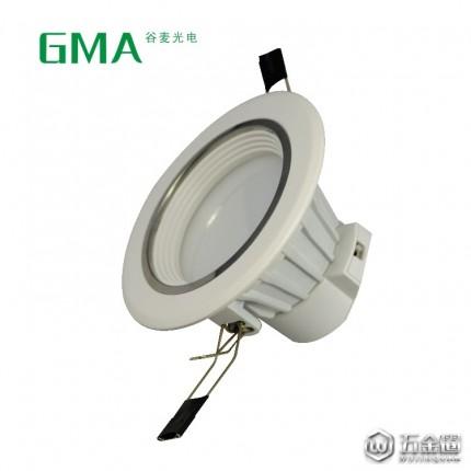 供应东莞灯具批发LED筒灯防眩筒灯10W工程灯 乳白室内灯具