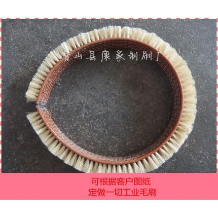 皮带毛刷清扫器皮带刷电机抛光用铜丝皮带刷针布刷