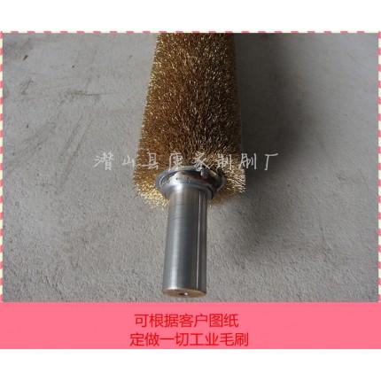 定做机械用缠绕不锈钢镀铜钢丝刷辊 钢材表面除锈打磨清洗除毛刺