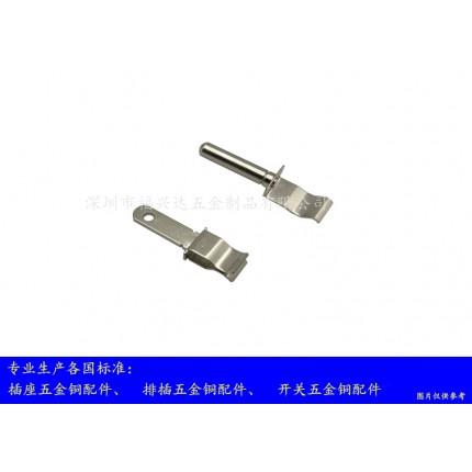 金属弹片 插座五金冲压件、插座冲压铜片