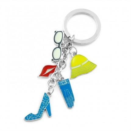 可爱挂件串串钥匙扣定制 圣诞赠送广告礼品钥匙扣定制 小饰品