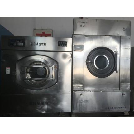 菏泽市转让鸿尔二手50公斤布草烘干机二手洗衣厂转让水洗机
