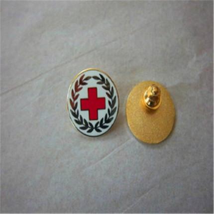 深圳哪里可以定制高档印刷徽章医院logo标志麦穗徽章字母徽章