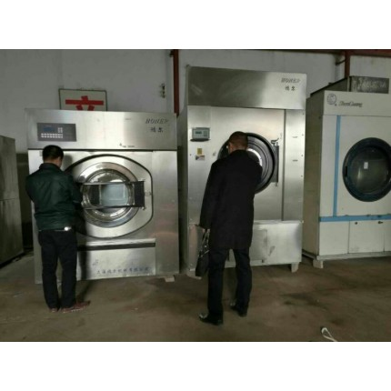 沈阳二手100公斤川岛烘干机四棍烫平机和折叠机