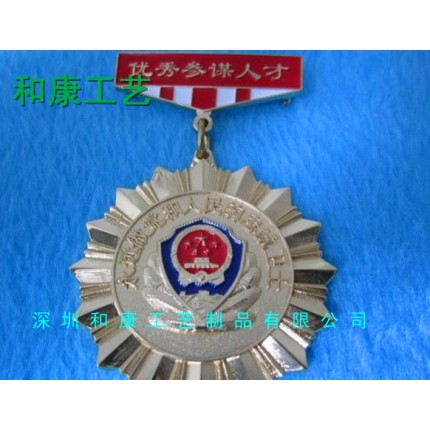 深圳厂家定制金银徽章勋章 活动金属纪念勋章 企业荣誉勋章制作