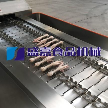 毛鸡爪生产线 毛鸡爪加工设备