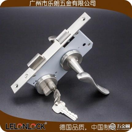 室内门锁执手锁 分体锁不锈钢304实心把手分体锁乐朗RLH-25+RML-13+RCR-01