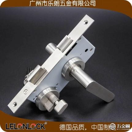 室内门锁执手锁 分体锁不锈钢304实心把手分体锁乐朗RLH-44+RML-13+RCR-01