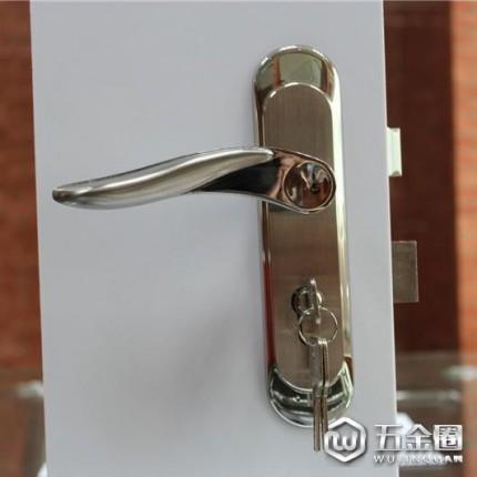 供应RPM-03-02不锈钢304冲压面板锁 不锈钢锁体铜锁芯 不锈钢室内门锁房门锁