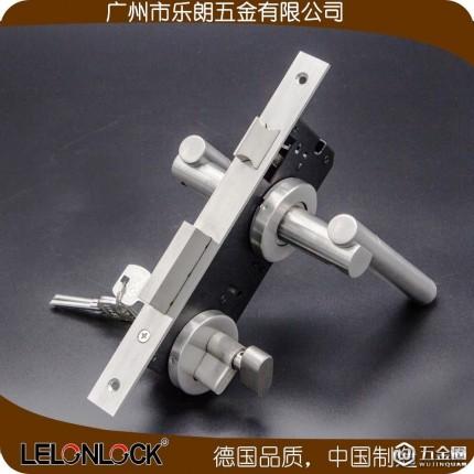 乐朗RLH-18+RML-07+RCR-01室内门锁执手锁 分体锁不锈钢实心把手分体锁