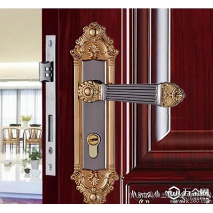 马牌门锁 欧式复古静音室内门锁锌合金卧室房门锁木门锁