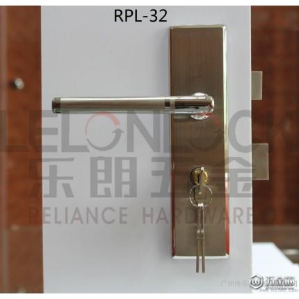 供应LELONLOCK乐朗RPM-01-07不锈钢304冲压面板锁 豪华面板锁不锈钢室内门锁