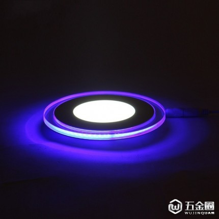 厂家直销新款LED双色面板灯室内照明灯11W家居酒店装饰彩色LED圆形面板灯