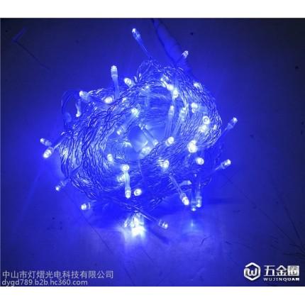 圣诞灯串 10米100灯 户外防水灯串 室内装饰灯串