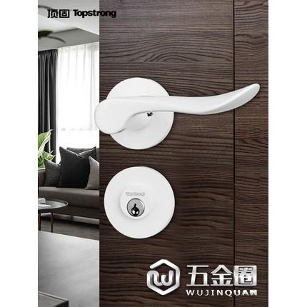 顶固门锁家用通用型卧室门锁室内门锁卫生间门锁房门锁静音门锁黑