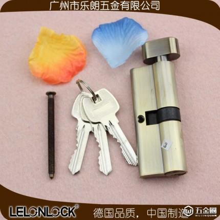 RCR-01青古铜70MM单开配普通钥匙室内门锁芯规格房门室内门锁配件