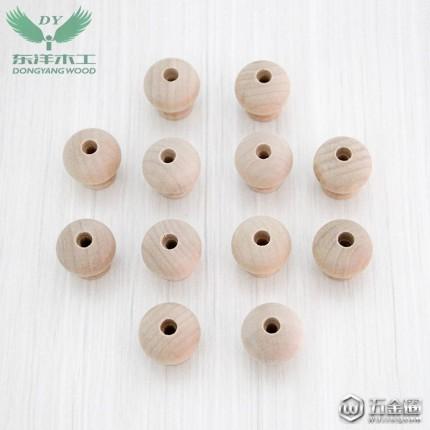 新品供应 家具橱柜木拉手 圆头蘑菇木拉手 木质把手单孔木拉手