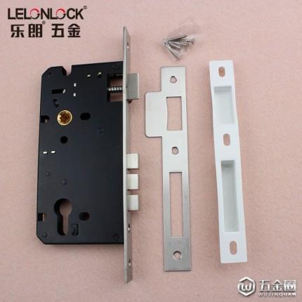 乐朗RML-10不锈钢6085高性能防盗斜舌锁体防盗门锁室内门锁具