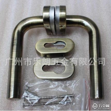 RTH-25 乐朗热销不锈钢304青古铜室内门分体锁 椭圆盖执手锁 防火门锁
