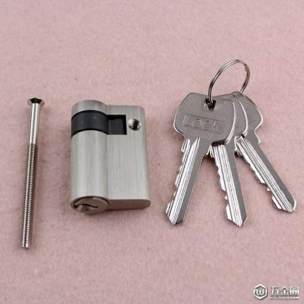 RCR-04半边锁芯五金锁具配件防盗门全铜锁室内门锁配件木门锁头锁胆