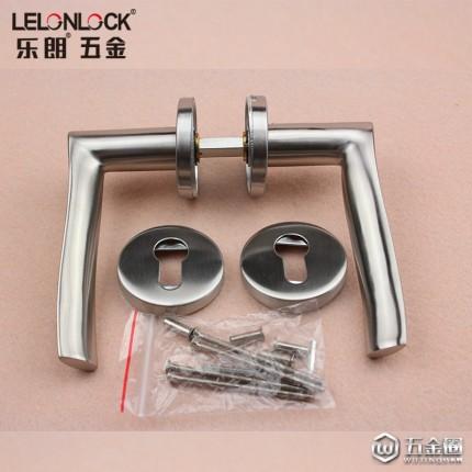 RLH-19不锈钢304精铸实心把手室内门锁执手分体锁配件通道门用拉手