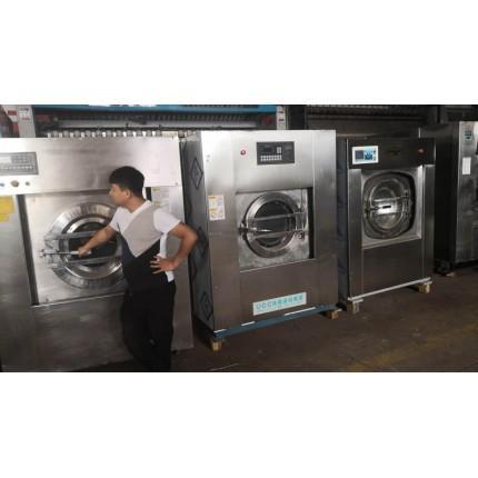 开封水洗厂设备整场转让河南二手雷克全自动水洗机折叠机