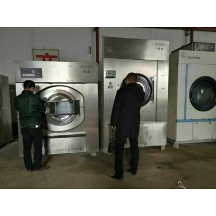 晋城给宾馆酒店铺二手洗涤设备二手海狮100公斤洗脱机烘干机