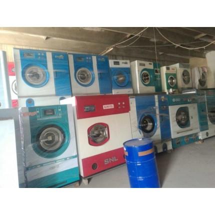 天津出售二手100公斤百强海狮水洗机,二手烫平机接轨