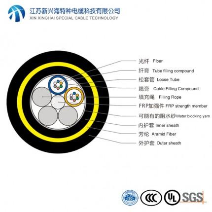 新兴海电缆 12芯ADSS光缆 全介质自承式光缆