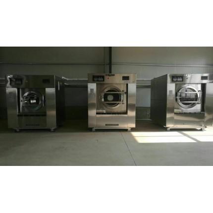 哈尔滨转让二手100公斤水洗机,二手3棍力净烫平机