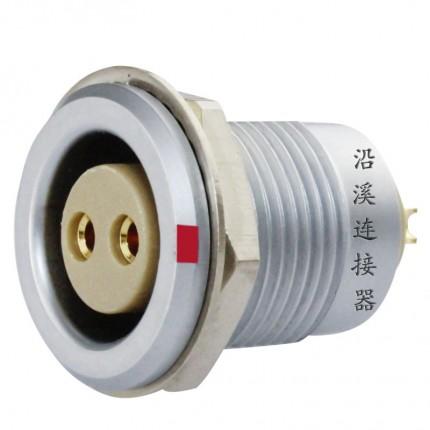 沿溪连接器2芯母插座推拉自锁航空件检测设备仪器仪表汽车接插件