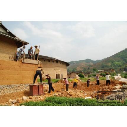 传统夯土墙施工-现代夯土墙制作,朴之原
