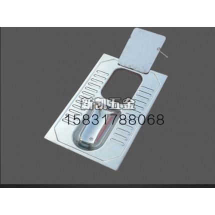 辽宁农村公厕用带盖蹲便器大小便分集式不锈钢蹲便器