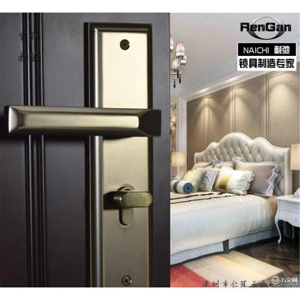 零售 承房门锁锁具执手钢木门锁现代五金机械门锁室内门锁
