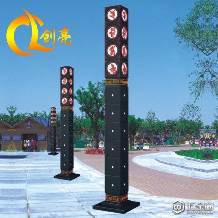 创亮户外照明CL-1652 户外仿古景观灯 中式雕花室外广场方形景观灯 景观灯生产厂家
