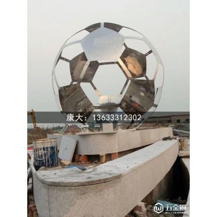 四川康大雕塑定做 雕塑户外室外大型 花球 圆球金属透光带灯定做